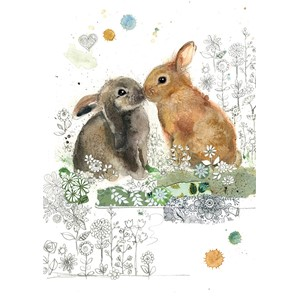"Doble kort Bug Art, 120x170, ""Critters"" , Rabbit Kiss"