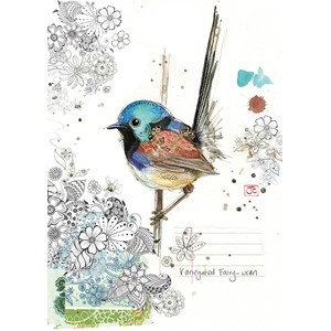 "Doble kort Bug Art, 120x170, ""Critters"", Fairy-Wren"