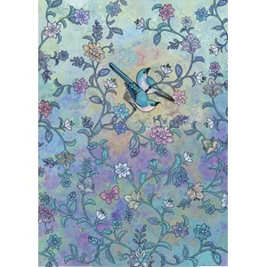 Doble kort 167x118, Decoratives, Blue Birds