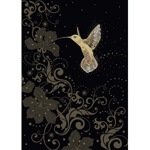 "Kort BUG ART,Jewels ""Gold Hummingbird"""
