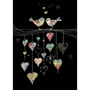 Kort BUG ART,Jewels, Bird Hearts