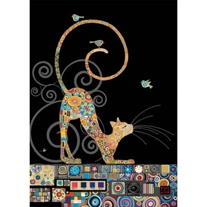 Kort BUG ART,Jewels, Cat With Birds