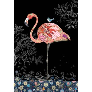 Kort BUG ART,Jewels, Pink Flamingo