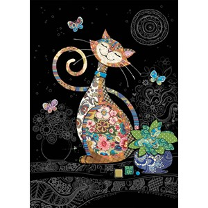 Kort BUG ART,Jewels, Happy Cat