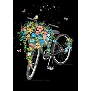 Kort BUG ART, Jewels, Flower Bike