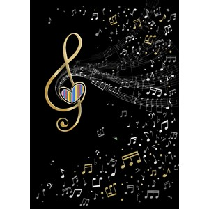 Kort BUG ART, Jewels, Music Clef