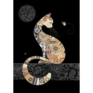 Kort BUG ART, Jewels, Decorative Cat