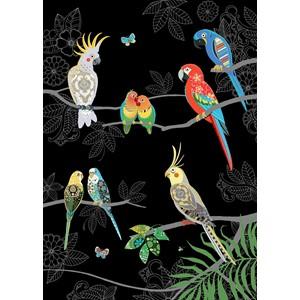 Kort BUG ART, Jewels, Tropical Birds