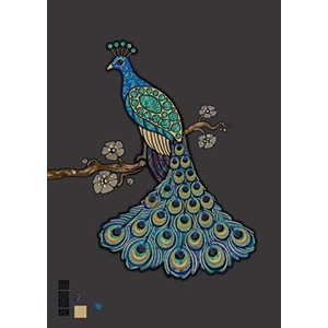 "Kort BUG ART,Jewels ""Peacock"""