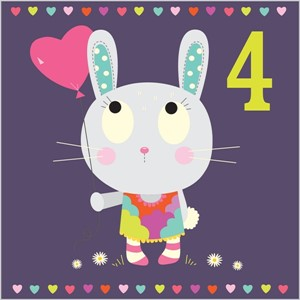 Kort 140x140, Piece of Cake, Bunny Love - 4 år