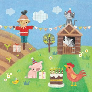Kort 140x140, Piece of Cake, Farmyard Fun