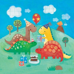 Kort 140x140, Piece of Cake, Dinosaur's Party