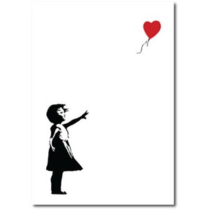 Doble kort 120x170mm, BANKSY, Balloon Girl