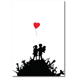 Doble kort 120x170mm, BANKSY, Bombsite Love