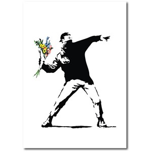 Doble kort 120x170mm, BANKSY, Flower Bomber
