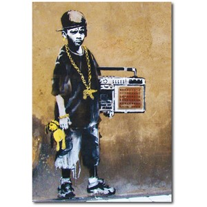 Doble kort 120x170mm, BANKSY, B Boy With Teddy