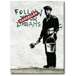 Doble kort 120x170mm, BANKSY, Follow Your Dreams