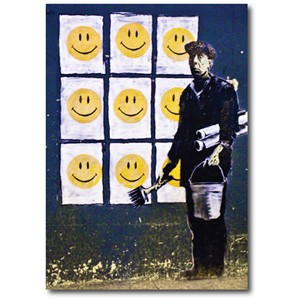 Doble kort 120x170mm, BANKSY, Smileys