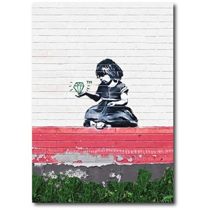 Doble kort 120x170mm, BANKSY, Diamond Girl