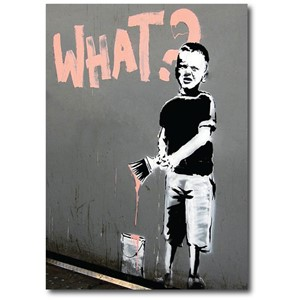 Doble kort 120x170mm, BANKSY, What?