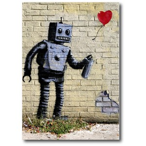 Doble kort 120x170mm, BANKSY, Robot Love