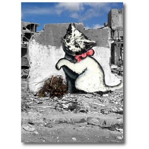Doble kort 120x170mm, BANKSY, Gaza Kitten