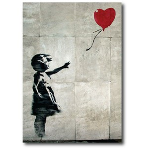Doble kort 120x170mm, BANKSY, Original Balloon Girl
