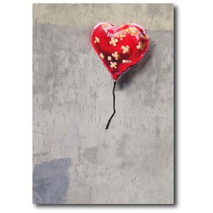 Doble kort 120x170mm, BANKSY, Bandage Heart