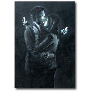 Doble kort 120x170mm, BANKSY, Mobile Phone Lovers