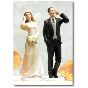 Doble kort 120x170mm, Caketoppers, Two Phones