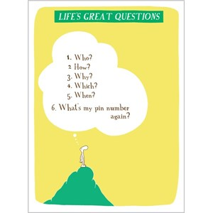Kort, Harolds Planet 170x125, Life Great Questions - Pin Num
