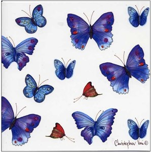 "Kort 160x160, Christopher Vine Design, ""Butterflies"""