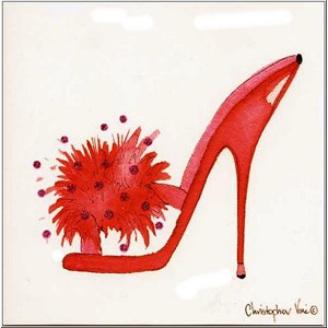 "Kort 160x160, Christopher Vine Design, ""Pink Shoe"""