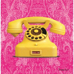 "Kort 160x160, Christopher Vine Design, ""Yellow Telephone"""