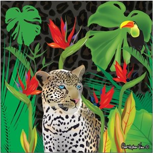 "Kort 160x160, Christopher Vine Design, ""Jungle"""
