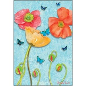 Doble kort 12x17, Christopher`s Garden, Butterflies` Delight