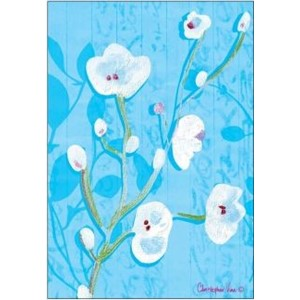 Doble kort 12x17, Christopher`s Garden, White Blossom