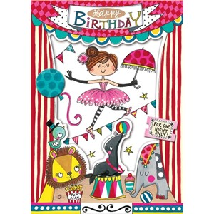 Doble kort 178x126, Wonderland, Happy Birthday Circus