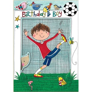 Doble kort 178x126, Wonderland, Birthday Boy Football