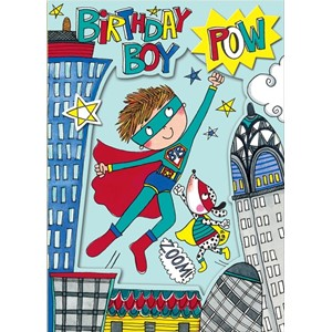 Doble kort 178x126, Wonderland, Birthday Boy Super Hero