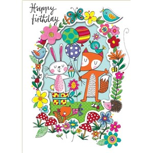 Doble kort 178x126, Wonderland, HB Woodland Creatures