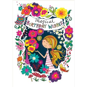 Doble kort 178x126, Wonderland, Magical Birthday Wishes