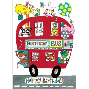 Doble kort 178x126, Wonderland, Birthday Bus