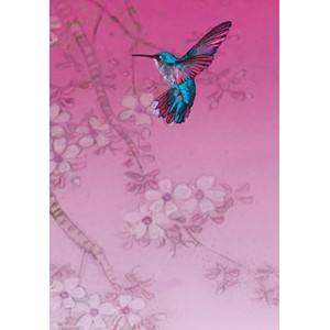Kort 178x122 Crystal Collection, Humming Bird