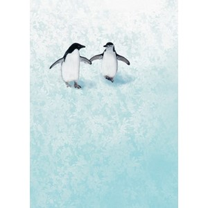 Kort 178x122 Crystal Collection, Two Penguins