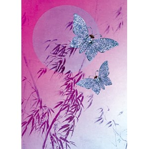 Kort 178x122 Crystal Collection, Diamond Butterfly