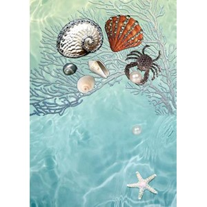 Kort 178x122 Crystal Collection, Sea Shells