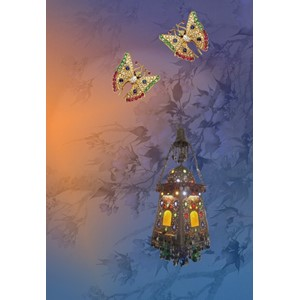 Kort 178x122 Crystal Collection, Lantern in the Moonlight