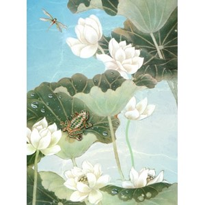 Kort 178x122 Crystal Collection, Lotus Pond