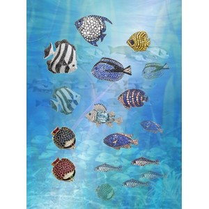 Kort 178x122 Crystal Collection, Tropical Fish